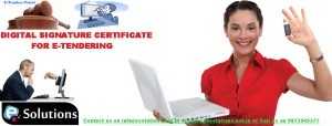 Digital Signature Cerificate For E-Tendering